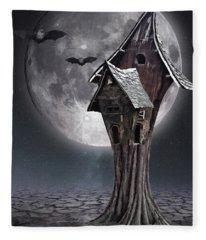 Halloween Witch House 1 Fleece Blanket