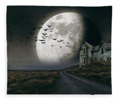 Halloween Witch House 3 Fleece Blanket