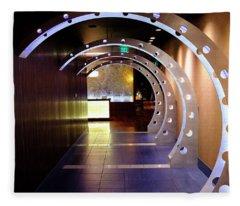 Hallway Leading To A Bar In Orlando Florida Fleece Blanket