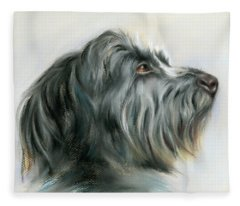Hamish The Wolfhound Fleece Blanket