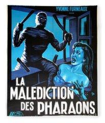 Hammer Movie Poster The Mummy La Malediction Des Pharaons Fleece Blanket