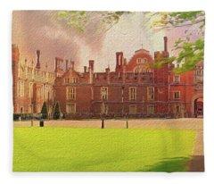 Hampton Court Palace Panorama Fleece Blanket
