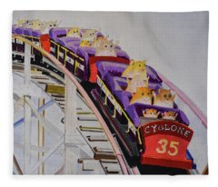 Hamster On Roller Coaster Fleece Blanket