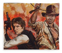 Han Solo And Indiana Jones Fleece Blanket