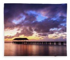 Hanalei Pier Fleece Blanket