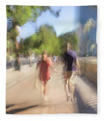 Fleece Blanket featuring the photograph Hand In Hand by Alex Lapidus