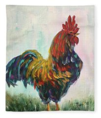 Handsome Cock Fleece Blanket