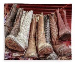 Hangin' Boots Fleece Blanket