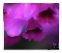 Hanging Purple Tropical Flowers Up Close- Kauai- Hawaii Fleece Blanket