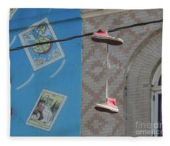 Hanging Shoes Fleece Blanket