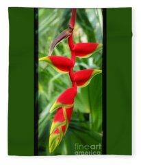 Hanging Tropical Splendor Fleece Blanket