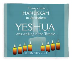 Hanukkah And Yeshua Fleece Blanket