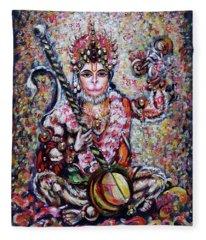 Hanuman - Ecstatic Joy In Rama Kirtan Fleece Blanket