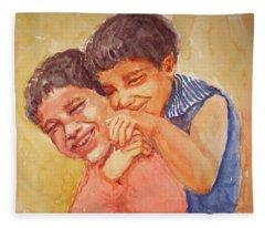 Happiness Fleece Blanket