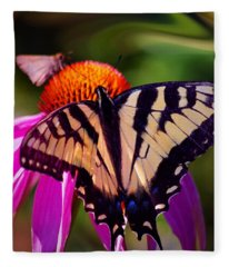 Happiness In Our Own Gardens... Fleece Blanket