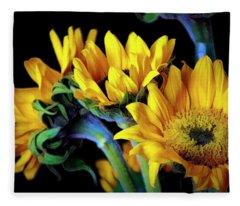 Happiness Is Sun Flowers Fleece Blanket