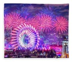 Happy 2018 Fleece Blanket
