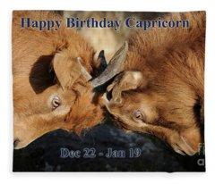 Happy Birthday Capricorn Fleece Blanket