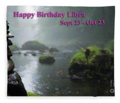 Happy Birthday Libra Fleece Blanket