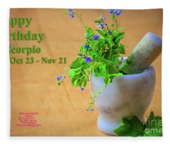 Happy Birthday Scorpio Fleece Blanket