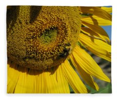 Happy Bumble Bee Fleece Blanket