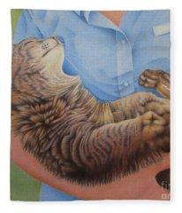 Happy Cat Fleece Blanket