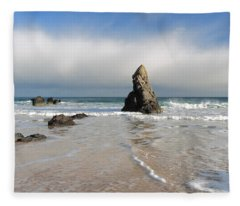 Happy Day On Sango Bay Fleece Blanket