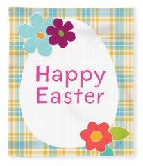 Happy Easter Egg- Art By Linda Woods Fleece Blanket