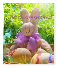 Happy Easter Everyone Fleece Blanket