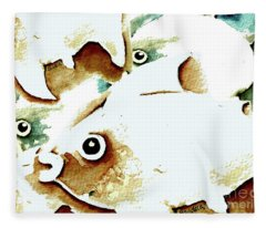 Happy Fish Fleece Blanket