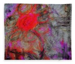 Happy Flower Fleece Blanket