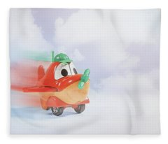 Happy Flying Fleece Blanket