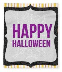 Happy Halloween-art By Linda Woods Fleece Blanket