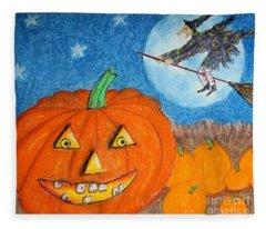 Happy Halloween Boo You Fleece Blanket