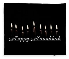 Happy Hanukkah Fleece Blanket