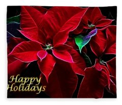 Happy Holidays Fleece Blanket