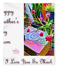 Happy Mother's Day Mom Fleece Blanket