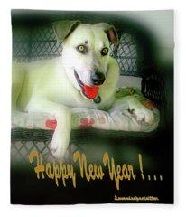 Happy New Year Art  Fleece Blanket