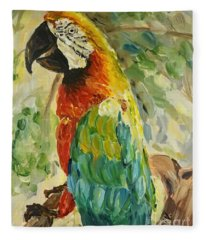 Happy Parrot Fleece Blanket