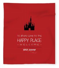 Happy Place Fleece Blanket
