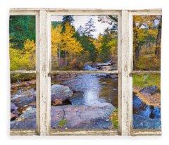 Happy Place Picture Window Frame Photo Fine Art Fleece Blanket