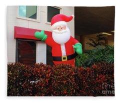 Happy Santa Fleece Blanket