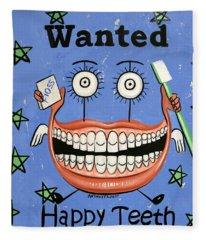 Happy Teeth Fleece Blanket