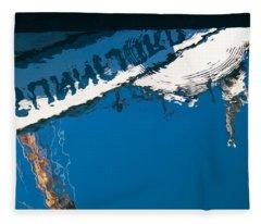Harbor Blue Fleece Blanket