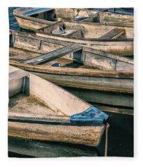 Harbor Boats Fleece Blanket