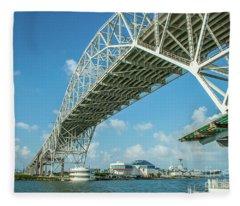 Harbor Bridge Fleece Blanket