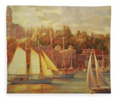 Harbor Faire Fleece Blanket