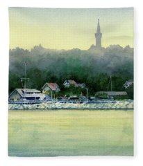 Harbor Master, Port Washington Fleece Blanket