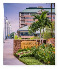 Harbour Island Retreat Fleece Blanket