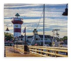 Harbour Town Lighthouse Fleece Blanket